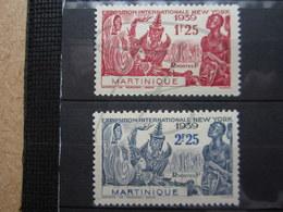 VEND BEAUX TIMBRES DE MARTINIQUE N° 168 + 169 , X !!! - Martinique (1886-1947)