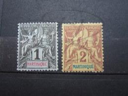 VEND BEAUX TIMBRES DE MARTINIQUE N° 31 + 32 , (X) !!! - Martinique (1886-1947)