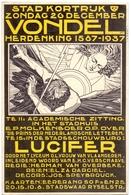 PK - Kortrijk Kleine Affiche Stadsschouwburg - C. Verschaeve - Illustr Jos Speybrouck - Vondel - Lucifer 1937 - Cartes Postales