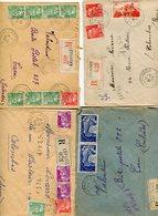 VOSGES De LEPANGES   4 Env. Recom. De 1950 1951  Avec Dateur  A 6 Et A  7 - Marcophilie (Lettres)