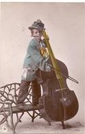 CP - Fantasie - Fantaisie - Muziek Jongen Met Contrabas Musique Garçon  Contrabasse - Cartes Postales