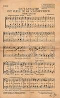 2 Anciennes Partitions Musicales De Chants Religieux Dont 1 Manuscrite - Tout L'Univers Est Plein De Sa Magnificience - Scores & Partitions