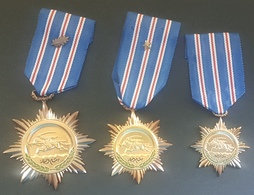 Syria, Military Decoration, Syrian Arab Army Courage Medals Degree 1-2-3 - NEW - Medals