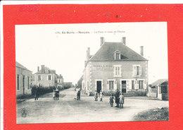 18  MARCAIS Cpa Animée Hotel Du Midi La Poste Route De Morlac        Edit A A Bourges - France