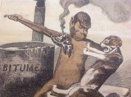1874 Journal LE GRELOT - FAUT QU' ÇA PASSE Par Alfred LE PETIT - SINGE - CHAT - BITUME - Journaux - Quotidiens