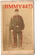 Portrait D'un Militaire à Identifier - CARTE CDV Tirage Alluminé 19ème - Taille 63 X 104 - Photo GILBERT Coutances - To Identify