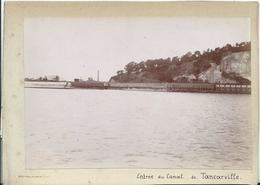 PHOTO SUR CARTON 16,5X 12- 1892 - Entre ROUEN Et LE HAVRE - ENTREE DU CANAL DE TANCARVILLE - Photos