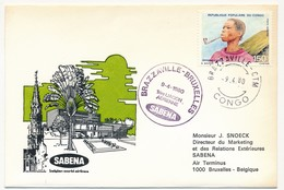 CONGO - 2 Enveloppes SABENA - 1ere Liaison Aérienne - BRAZZAVILLE - BRUXELLES - 9.4.1980 Et Aller 8.4.1980 - Congo - Brazzaville