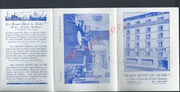 BROCHURE PUBLICITAIRE ILLUSTRÉE GRAND HOTEL DU GLOBE À PARIS + CARTE : - Publicidad