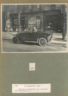AUTOMOBILE CITROEN - PARIS - 1922 - AVENUE DE WAGRAM - PHOTO - (13 X 18 Cm) Montée Sur Son Cartonnage Légendé D'époque - Cars