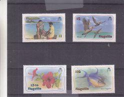 Anguilla - Yvert 437/40 ** - Fleurs - Poissons - Oiseaux - Crustacés - Valeur 58,50 Euros - Anguilla (1968-...)
