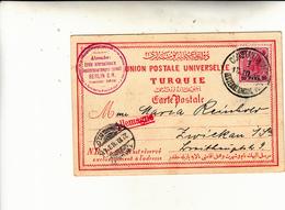 Costantinopoli, Ufficio Postale Austriaco Su Post Card To Germany 1898 Piega In Angolo - Oriente Austriaco