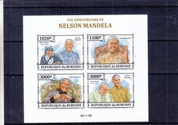 Mère Teresa - Nelson Mandela - Pape Jean Paul II - Burundi - COB BF 600 ** - MNH - Valeur 35 Euros - Mother Teresa