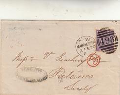 Manchester To Palermo. Cover 1870 - 1840-1901 (Regina Victoria)