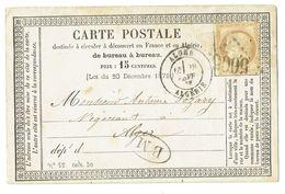 CP ALGERIE ALGER 1875 CACHET BM - France