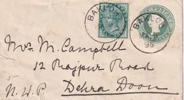 INDE 1896 ENTIER POSTAL LETTRE DE BAKLOH - 1882-1901 Empire