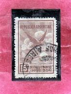 ARGENTINA 1928 AIR MAIL POSTA AEREA CORREO AEREO EAGLE AQUILA CENT. 15 USATO USED OBLITERE' - Posta Aerea