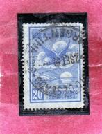 ARGENTINA 1928 AIR MAIL POSTA AEREA CORREO AEREO EAGLE AQUILA CENT. 20c USATO USED OBLITER - Posta Aerea