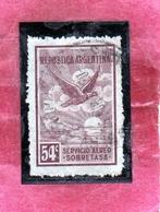ARGENTINA 1928 AIR MAIL POSTA AEREA CORREO AEREO EAGLE AQUILA CENT. 54c USATO USED OBLITER - Posta Aerea