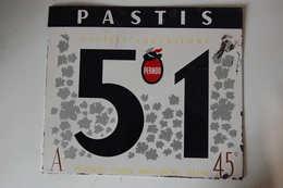☺♦♦ PASTIS 51 < PLAQUE PUBLICITAIRE 30cm X 26cm - PERNOD PARIS MONTREUIL SEINE - Autres