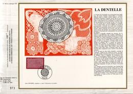 1990 DOCUMENT FDC LA DENTELLE - Documents De La Poste