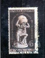 ARGENTINA 1948 1949 AIR MAIL POSTA AEREA CORREO AEREO CARTOGRAPHERS BUENOS AIRES ATLAS CENT. 45c USATO USED OBLITERE' - Posta Aerea