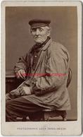 A Voir-CDV Paysan Picard- Hortillonnage ? Photographe Léon Caron à AMIENS Rue Des 3 Cailloux-TB état - Anciennes (Av. 1900)
