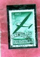 ARGENTINA 1940 AIR MAIL POSTA AEREA CORREO AEREO PLANE IN FLIGHT PESOS 1.25p USATO USED OBLITERE' - Posta Aerea