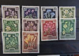 1948 Blumen Edelweiss Enzian Veilchen Primel Krokus Hundsrose ** 145142023938 - 1945-60 Nuovi & Linguelle