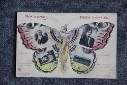 Souvenir Présidentiel : Monsieur Et Madame FALLIERES. - Politicians & Soldiers