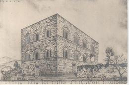 15500ter) GENOVA REGIO UFFICIO MONUMENTI ANTICA CASA DEI FIESCHI A S. SALVATORE COGORNO ALTRO LATO - STAMPA SU CARTONCIN - Genova (Genoa)