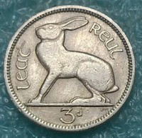 Ireland 3 Pence, 1949 - Ireland