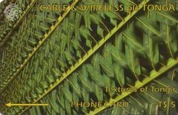 TARJETA TELEFONICA DE TONGA. GREEN, TON-04b, 185CTGA - TIRADA 15000 (002). - Tonga