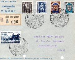 Sidi Bel Abbès 1952 Juste Le Devant De L'envelope - Algérie (1924-1962)