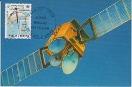 Wallis Et Futuna Carte Maximum 1989 Télécommunications 387 - Maximum Cards
