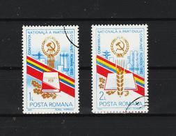 1982 - Conference Du Parti Communiste Michel No 3913/3914 Et Y&T No 3414/3415 - 1948-.... Republics