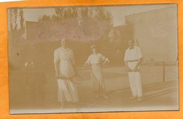 Teheran Iran Playing Tenis 1900 Real Photo Postcard Mailed - Iran