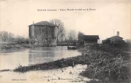 33-BAGAS- VIEUX MOULIN FORTIFIE SUR LE DROPT - France