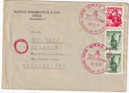 AUTRICHE 1949 LETTRE DE GRAZ - 1945-.... 2a Repubblica