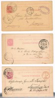 Portugal, 1884/7, 3 Inteiros Postais 20 Reis, OM 10, Funchal Para Alemanha E França - Ganzsachen