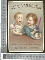 CHROMO CACAO VAN HOUTEN / DEUX ENFANTS SE DISPUTENT UNE TASSE DE CHOCOLAT - Van Houten