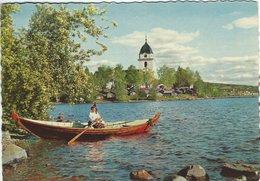 Sweden Rättvik Dalarna. The Church & The Church Stables. Sent To Denmark 1960.  B-3154 - Sweden