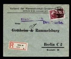A5594) DR Infla R-Drucksache Berlin 25.2.22 EF Mi.115f Gepr. Infla - Germany