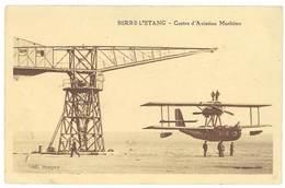 Cpa Berre L'Etang - Centre D'Aviation Maritime ( Avion Biplan ) - France
