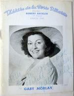 GABY MORLAY  AUTOGRAPHE MANUSCRIT 1949  SUR PROGRAMME DE LA PIECE DE GUITRY QUADRILLE +AUTRES AUTOGRAPHES - Autographes