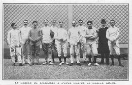 ESCRIME - 1908 - EQUIPE Du CERCLE DE L'ESCRIME - VOIR DEUX SCANS - Fencing