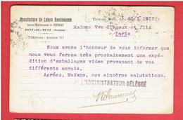 PONT DE METZ 1912 MANUFACTURE DE LAINES RENAISSANCE EX MAISON PETERSEN CARTE EN TRES BON ETAT - Other Municipalities