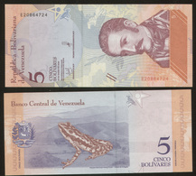 Venezuela 5 Bolivares 2018 Pick New UNC - Venezuela