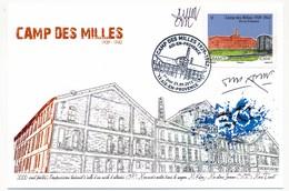 """FRANCE - Carte Maximum - """"Le Camp Des Milles"""" - 13 AIX EN PROVENCE 21.9.2012 - Signée Graveur Et Dessinateur - Cartoline Maximum"""