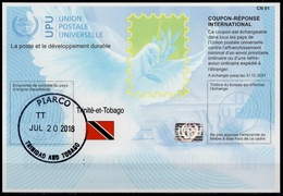 TRINIDAD TRINITE ET TOBAGO Is41 20171023 AA International Reply Coupon Reponse Antwortschein IAS IRC O PIARCO 20.07.2018 - Trinidad & Tobago (1962-...)